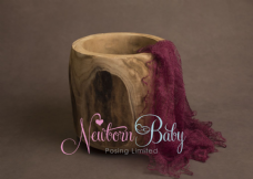 Plain Colour Lacey Wrap/Stuffer - BERRY